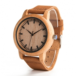 BOBO BIRD A16 Men Design's Analog Bamboo Wood Watches Men Top luxury brand With Real Leather Strap For Gift