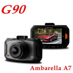Ambarella A7 G90 Car DVR Video Recorder with 2.7 Inch Full HD 1080P LCD+HDR+G-Sensor+H.264+Night Vision Video Recorder Dash Cam