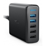 Anker Quick Charge 3.0 63W 5-Port  USB Wall Charger, PowerIQ PowerPort Speed 5