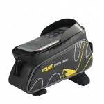 CBR Bicycle Front Tube Bags 6 Inch Phone Touch Screen PU Waterproof Bike Cycling Beam Saddle Bag Mountain Bike Accessories