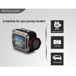 DV100 HD 1080P 140 Degree Wide Angle 1.5 Inch LCD Sports DV Car Camera DVR for Surfing Outdoor Sports
