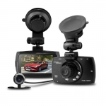 "G30B Dual lens Car DVR with 2.7""LCD Full HD 1080P+VGA 480P With G-sensor H.264 Night Vision Motion Detection Car Dashboard Cam"