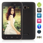 KingSing K2 Smartphone Android 4.2 OS MTK6572 Dual Core Bluetooth 1.3GHz 4.3 Inch 800 x 480 IPS Screen Dual Camera WCDMA 512MB 4GB