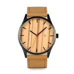 OBO BIRD WI17 Round Wrist Watch Mens Watches Top Brand Luxury Watches With Calendar Display Wood Dial In Box Fashion Accessory