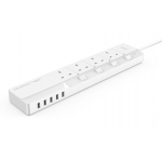 ORICO OSJ-4A5U-UK Home Office UK Surge Protector With 5 USB Charger 4 UK AC Plug Multi-Outlet Travel Power Strips