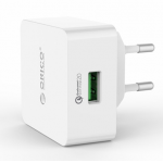 ORICO QCK-1U 1 Port Quick Charger QC 2.0 USB Quick Charger Wall Charger with 80cm Free Micro USB Cable(QCK-1U )