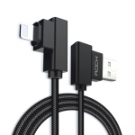 ROCK Cable USB for Lighting Cables 90 Degree Right Angle 2.1A Fast Charger L Bending Design Cord for iPhone iPad
