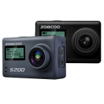 "SOOCOO S200 Action Camera Ultra HD 4K NTK96660 + IMX078 with WiFi Gryo Voice control external mic GPS 2.45"" touch lcd"