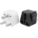 Universal AC Power Type D 3 Pin Round Plug Travel Adapter Convert