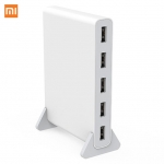 Xiaomi Qingmi 5 Port 65W QC2.0 Fast USB Power Charger Adapter Charging Station Support Laptop Tablet Phone Smart Device