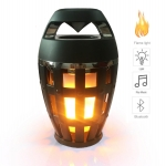 Portable LED i3 Flame Light Lamp Speaker Stereo Bluetooth 4.2 Speaker Atmosphere Soft Light For iPhone Android Smartphone