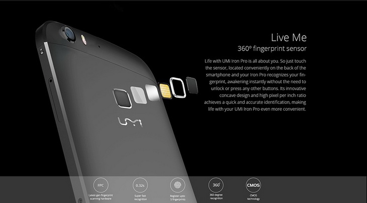 umi iron pro octa core 4g lte dual sim 5 5 inch 1920x1080p 3gb ram fingerprint android 5 1 have liberated